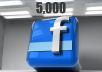 give 5000 Real likes to your Facebook fan page