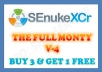 use SEnuke XCr with ★THE FULL MONTY★ template to create High Quality Google Friendly Backlinks..