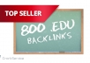 get 800 EDU seo links for your website through blog comments ..