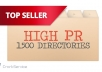 submit your site to 1500 High PR web directories..