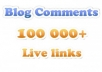 ★! make 100 PR1 to PR8 Contextual Backlinks + 10000 Blog Comments + Report ! ★