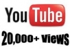 increase 100% safe 20,000 unique views to your YouTube channel