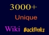 build 3000+ High PR Permanent Contextual Backlinks From 3000+ HighPR Wiki Sites....@