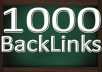 built 1000 backlinks for seo and fast delivery