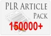 give you 150000+ PLR articles