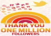 Add (1,000,000) 1 MILLION Twitter Followers By Your Profile Link To Larger Your Twitters followers Without Your Account Credentials