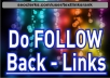 create 125 BackLinks DOFOLLOW from High PageRank Domains
