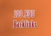 create 100 EDU BACKLINKS to increase your website ranking for just one dollar