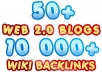 build MULTI tier link pyramid with over 50 web 2 properties and over 10000 wiki backlinks ★ Massive Pyramid ★!!