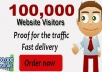 send over 100,000+ Worldwide UNIQUE Real Human Visitors/Hits to your Link, Page, Url and proof for the traffic