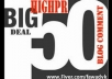 do manual 50 Highpr Blog Comment 10PR5 10PR4 15PR3 15PR2 Dofollow Link ..