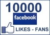 give you 10000+ Facebook likes to your fanpages, likes within 48 hours