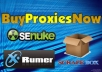 give you FIVE Private Proxies on my Fast 1000mbps Connection Servers!!