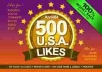 provide real 500++ USA facebook likes for your fanpage only for