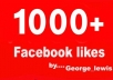 get you 1000+ Facebook likes with USA names and profile pictures within 48 hours To your fanpage..