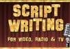 write a 30 second script for video, radio or TV ..