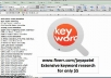 do KEYWORD research to give you best 50 keywords watch my video for more details............