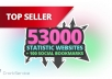 submit your site to 53K^ statistic websites + 100 Social Bookmarks