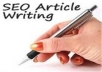 transform your article to PDF and submit it to doc sharing sites!!!