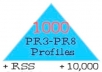 I will ►✖◄make link pyramid 1000 PR3 to PR8 profiles and 10,000 blog comments ►✖◄