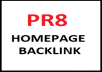 create 1x PR8  HOMEPAGE Backlink Dofollow Low OBL + BONUS