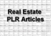 provide you 1755 Real Estate Private Label Rights Articles can Be Used On Website For Promotion