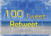 give you 100 tweet or retweet mostly from USA real twitter user within 24 hours