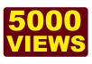 give you SAFEST 5000 YouTube views + Spread to 3 Days ..!!!!