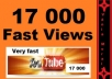 give 17000 youtube views + special bonus..!!
