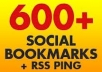 add your site to 600+ social bookmarks + rss + ping + seo backlinks..!!!!!