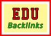 1000 Edu Backlinks, Massive Seo Blast, Google Loves Edu, Express Gig, 24 Hours Completion Or Free Order, Full Report, Ultimate Link Juice