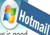 give 1000 hotmail account fresh new