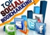 do Social bookmarking submission Manually to 200+ sites Including Top 50 sites!!!