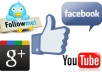 give you 125+ genuine real human facebook likes for your fanpage, website or blog ..@