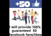 give 50 facebook LIKES or Fans within 24hrs.,