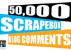 create Massive 50,000 Blog Comment Backlinks With Scrapebox, Fresh AA List Everyday , Boost Your Ranking Overnight........