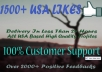get you 1500+ Real Looking USA Facebook Page Likes with Profile Pictures within 20 hours ............