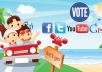 provide you 200 Real Organic facebook vote or like by real people to any contest...................