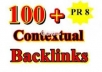 make 100 PR1 to PR8 Contextual Backlinks + 10000 Blog Comments + Report!!!!!!