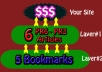 build Panda, Penguin, emd Safe LINKWHEEL Consisting of 6 Spokes of PR5 PR3 Article Directories reinforced by 5 Most Popular Bookmarks Links....
