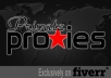 give you 5 US private proxies for a full month ....@