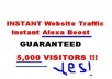 Provide You 3000 To 8000 Visitors Every Day Forever Get Unique Traffic To Your Site