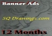 put your Banner, Bottom Right, All Pages, 12 Month on my Blog 