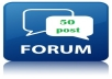 write 50 quality forum post