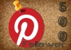 Give you 500+ Pinterest Follower All are Real and Active