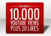 give you 10000 youtube views plus 20 likes@@@@