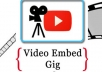 embed your Youtube Video on 10+ High PR Web 20 ,Web 2 Blogs@@@