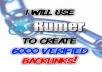 create 6000 VERIFIED backlinks using Xrumer!!!!!!!!!!!!