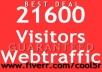  send u REAL 21600pv human visitors web traffic to your site with 6000+ unique ip Value Pack..@