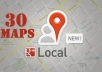 make 30 maps with reports, referencing your merged GOOGLE Places & Plus citation to local seo, Optimize your Local Page